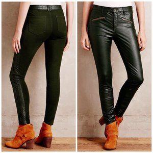 Anthropologie Pilcro Vegan Leather Moto Pants 26